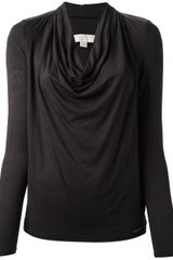 Michael by Michael Kors Cowl Neck Top - Lyst