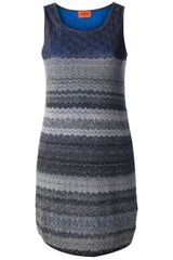 Missoni Knitted Mini Dress - Lyst