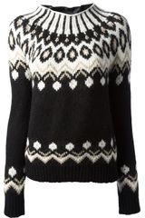 Moncler Fair Isle Knit Sweater - Lyst