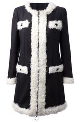 Moschino Cheap & Chic Round Neck Coat - Lyst