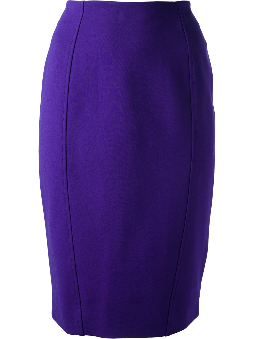 Moschino cheap chic zip pencil skirt in purple pink Inexpensive chic