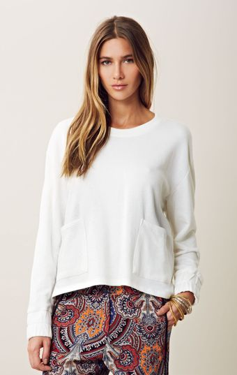 Otis & Maclain Long Sleeve Pocket Sweatshirt - Lyst