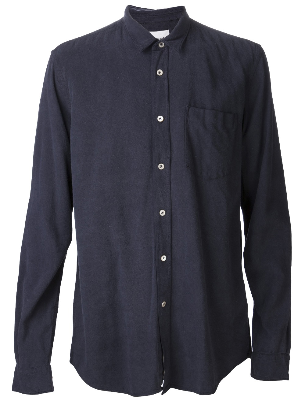 Our legacy classic button down shirt in blue for men lyst for Preppy button down shirts