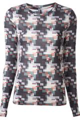 Rag & Bone Abstract Multicolor Tshirt - Lyst