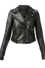 Theory Leather Biker Jacket - Lyst