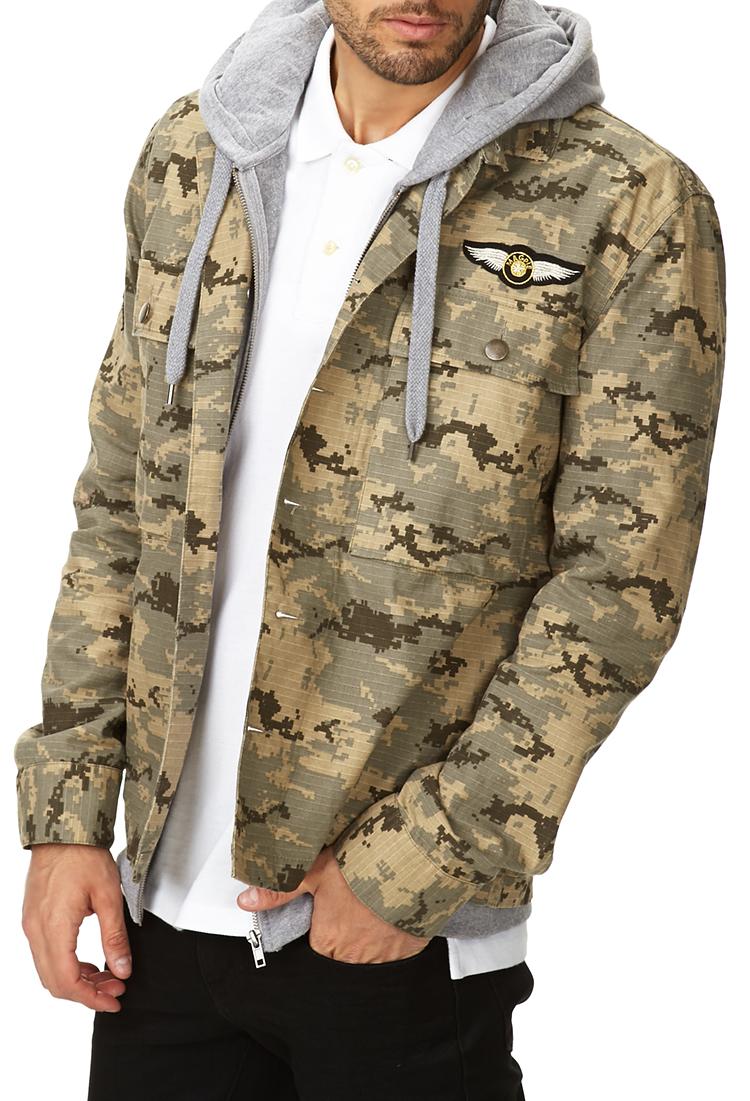 Lyst Forever 21 Desert Camo Army Shirt In Green For Men