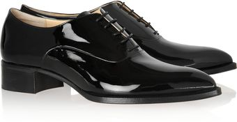 Christian Louboutin Zazou Patentleather Brogues - Lyst