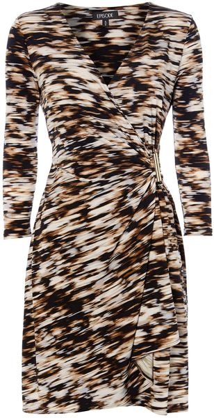 Episode Printed Wrap Dress - Lyst