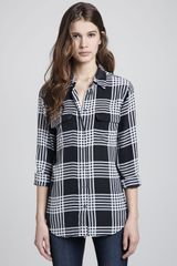 Equipment Signature Silk Plaid Blouse - Lyst