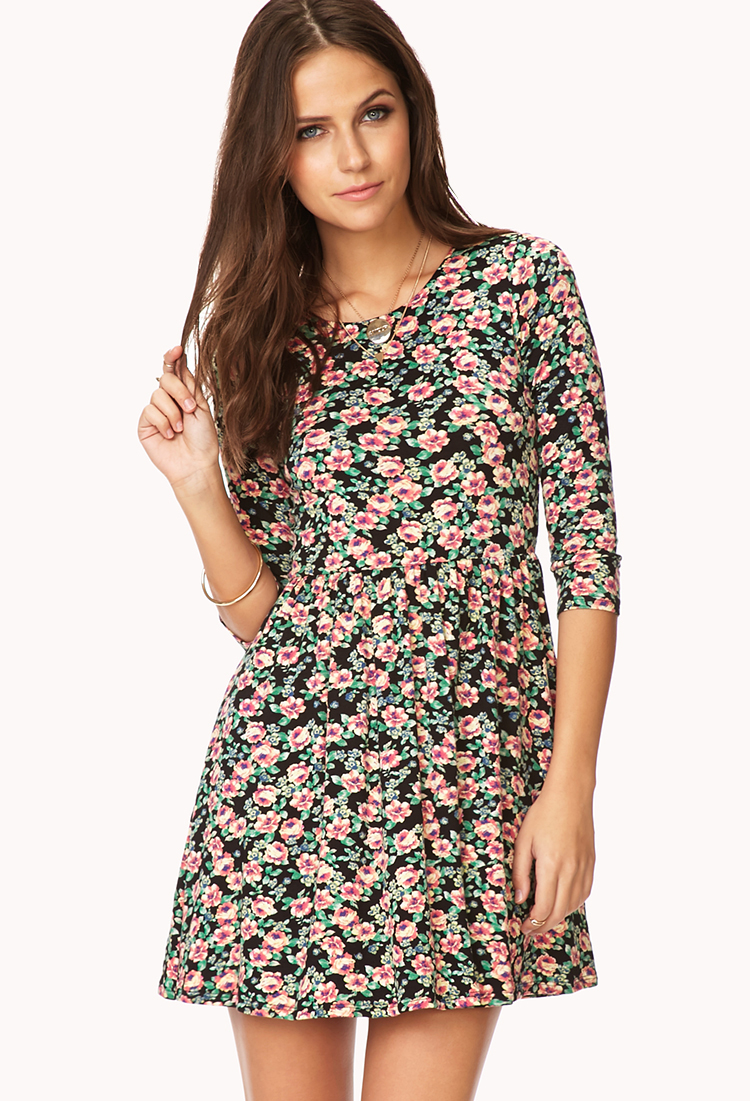 forever 21 black floral dress � dress blog edin