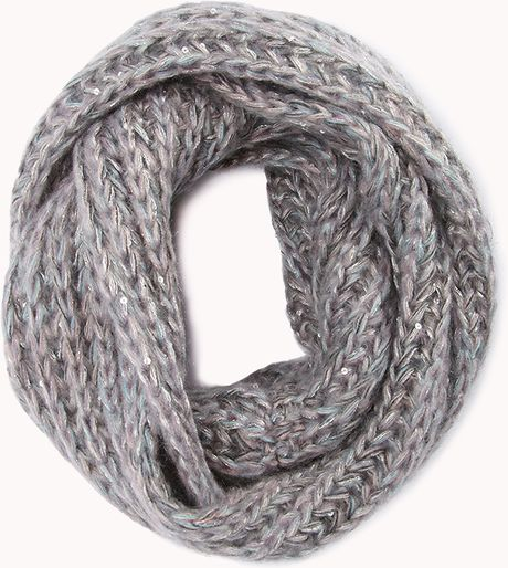 Forever 21 Winter Night Infinity Scarf in Gray (Grey/multi ...