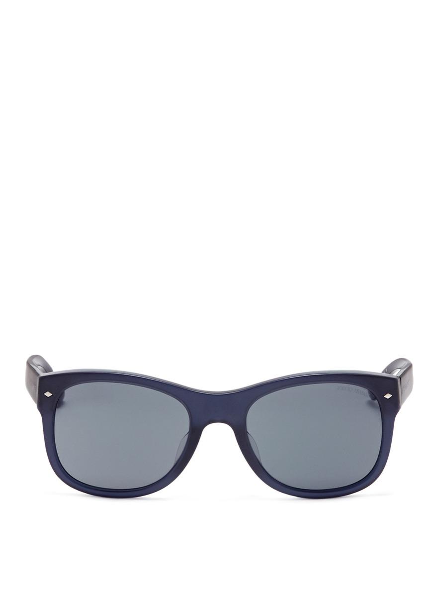Giorgio Armani Glasses Frame Mens : Giorgio Armani Matte Plastic Frame Sunglasses in Black for ...