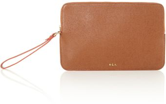 Lauren by Ralph Lauren Tate Brown Wristlet - Lyst