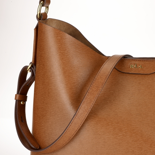 Lauren by Ralph Lauren Tate Leather Hobo in Brown - Lyst 9bc5704b46