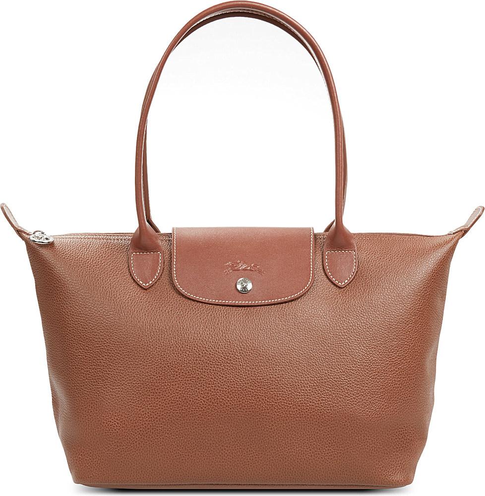6554d4f14677 Longchamp Veau Foulonne Shoulder Bag in Brown - Lyst