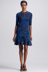 M Missoni Intarsia Fit Flare Dress - Lyst