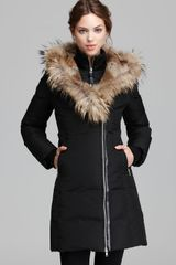 Mackage Down Coat Trish Lavish Fur Trim Hood - Lyst
