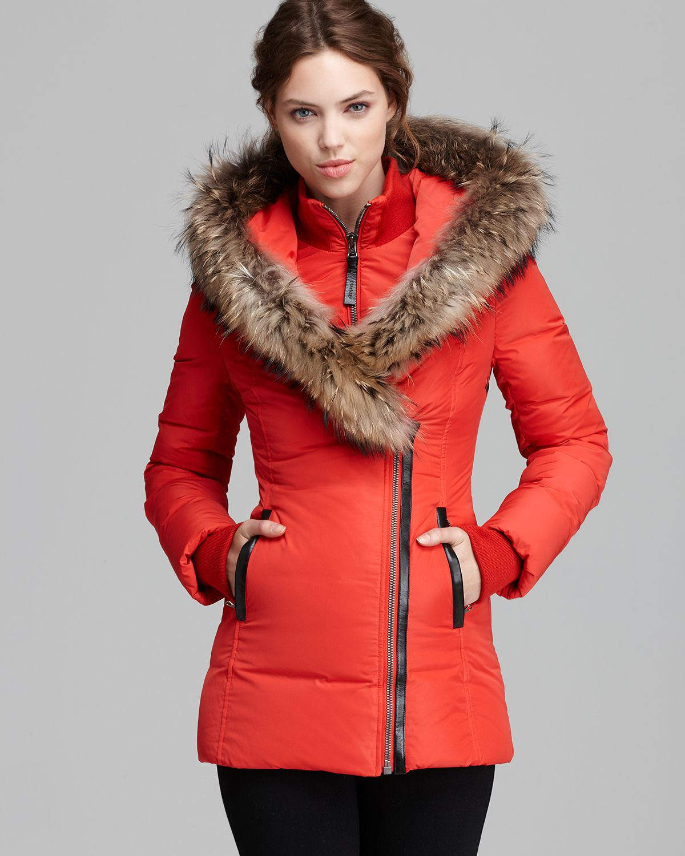d65c1ae0e5b6 ... spain mackage down coat adali lavish fur trim hood in pink lyst 2fc77  b5a1c ...