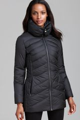 Marc New York Down Coat Mixed Chevron Quilted - Lyst