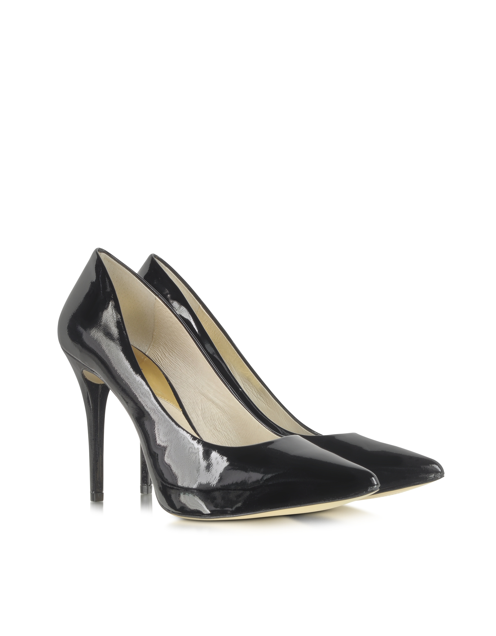 e9e7683a310d Lyst - Michael Kors Joselle Black Patent Leather Pointedtoe Pump in ...