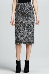 Michael Kors Long Lace Pencil Skirt - Lyst
