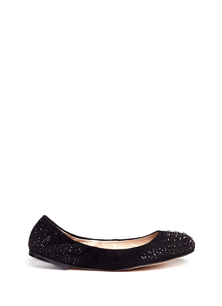 Black Studded Ballerina Shoes