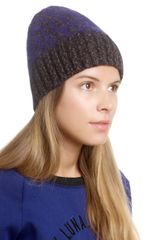 Surface To Air Violet Print Lexia Beanie - Lyst