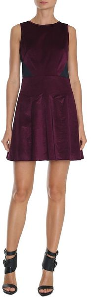 Tibi Stretch Velvet Sleeveless Dress - Lyst