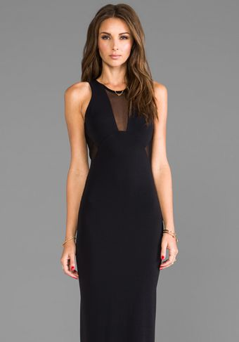 Cut25 Mesh Insert Gown in Black - Lyst