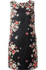 Dolce & Gabbana Floral Textured Shift Dress - Lyst