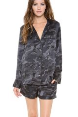 Equipment Lillian Camo Pajama Set - Lyst