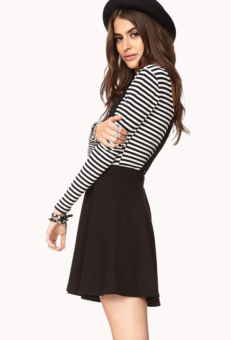a573b663247 Lyst - Forever 21 Grunge Overall Skirt in Black
