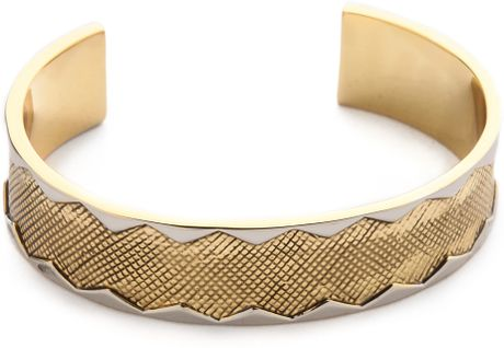 wavelength bracelet house of harlow wavelength cuff in gold gold silver lyst 349