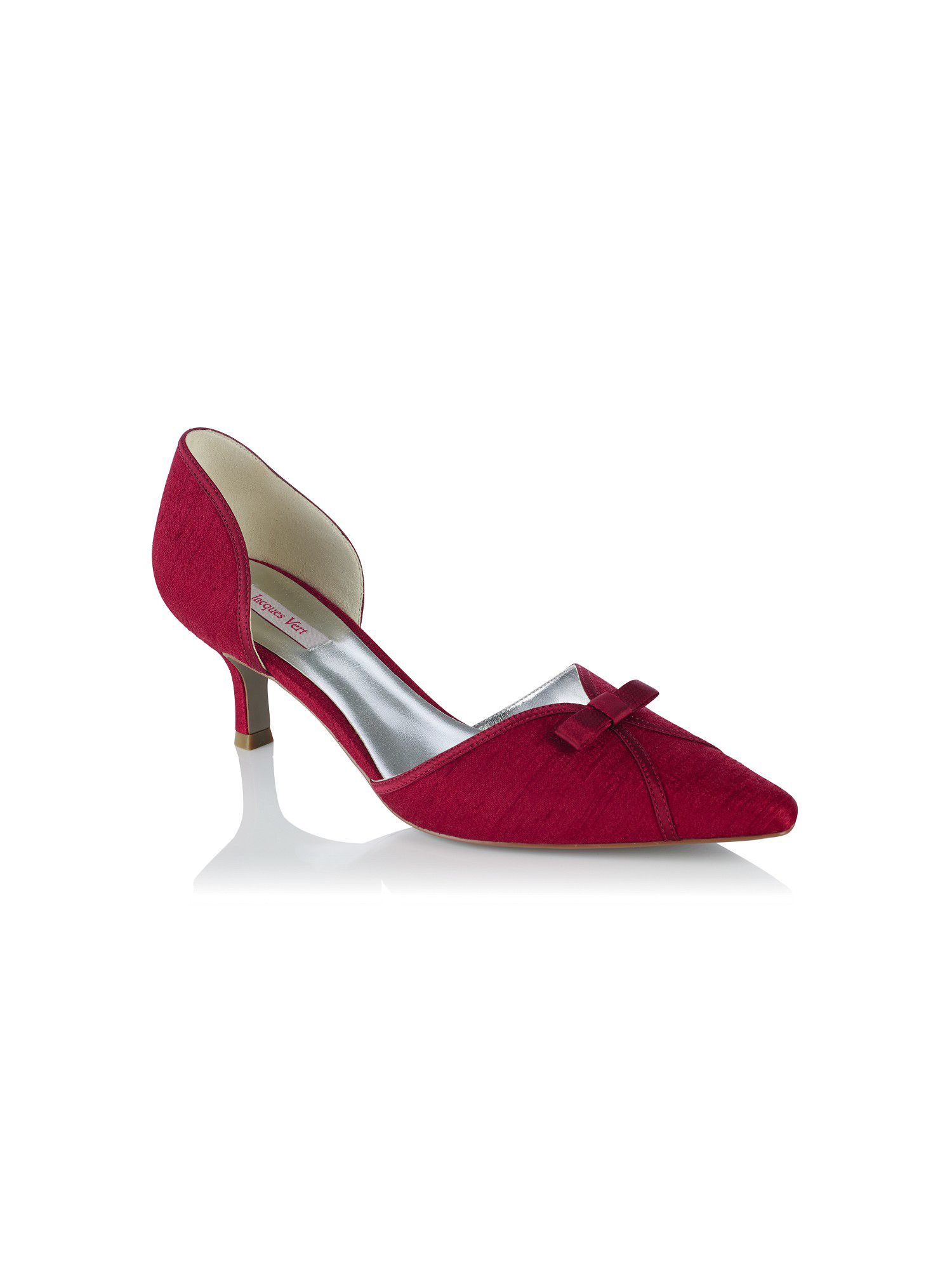 jacques vert bow detail garnet shoe in red lyst