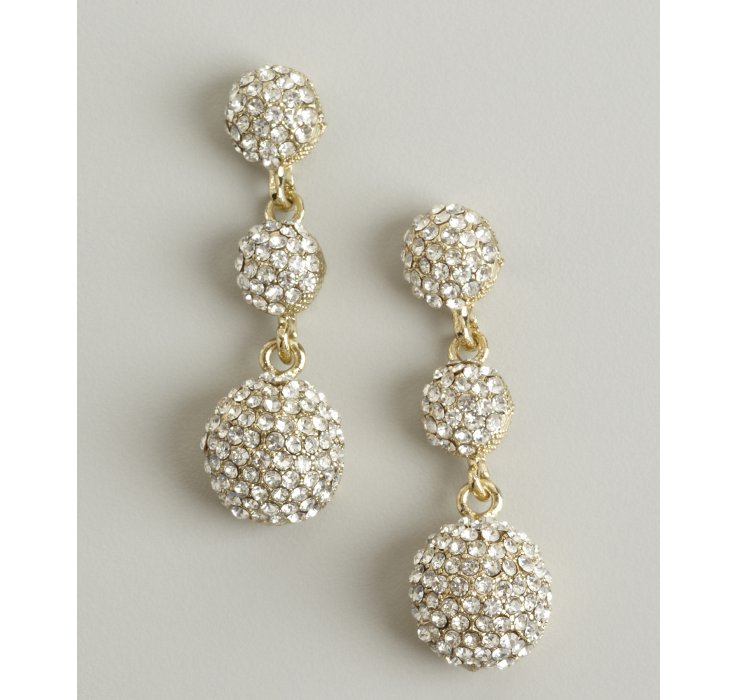 Kenneth Jay Lane Crystal Ball Earrings FwAhk