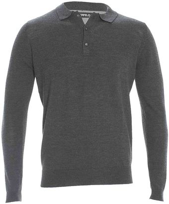 Lagerfeld Square Button Pullover Charcoal - Lyst