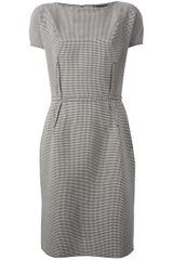 Lanvin Belted Shift Dress - Lyst