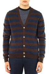 Marc By Marc Jacobs Stripe Wool Cardigan - Lyst