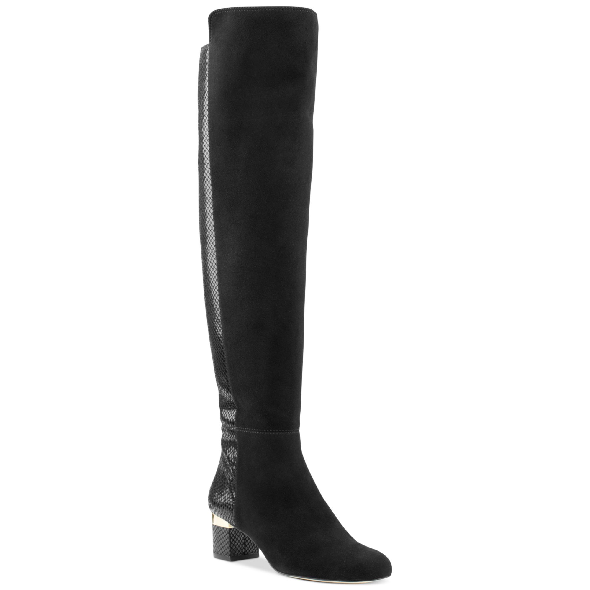 michael kors alaysia overtheknee boots in black black