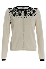 Moschino Cheap & Chic Embellished Knit Cardigan - Lyst