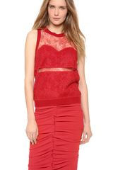 Nina Ricci Sleeveless Lace Top with Cutouts - Lyst