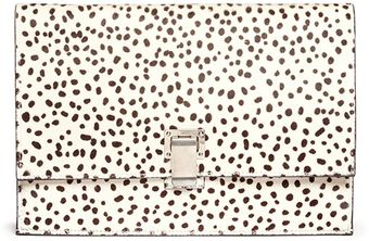 Proenza Schouler Dot Printed Pony Hair Clutch - Lyst