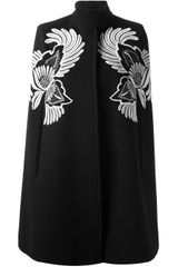 Stella McCartney Floral Embroidered Cape - Lyst