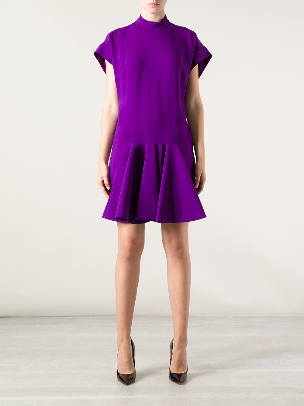 Stella Mccartney Pleated Dress In Pink Amp Purple Purple