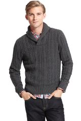 Tommy Hilfiger Novelty Shawl Sweater - Lyst