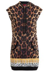 Versus  Leopard Printed Hooded Tank Top - Lyst