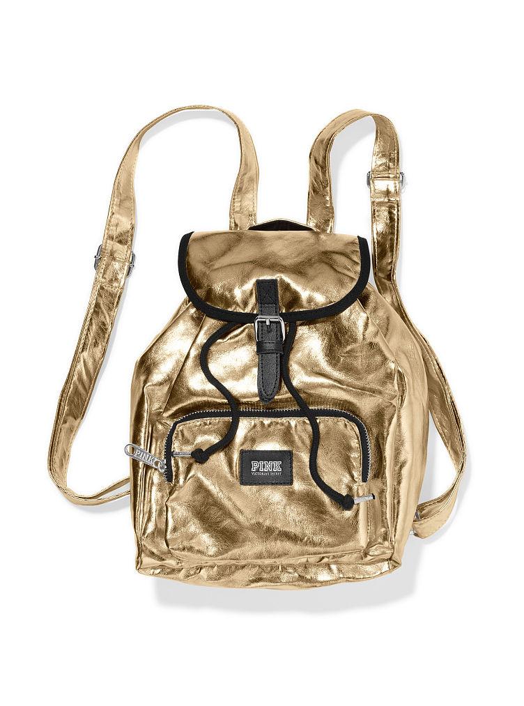 Victoria's secret Mini Backpack in Gold | Lyst