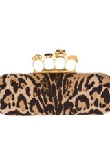 Alexander McQueen Printed Knucklebox Clutch - Lyst