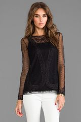 Alice By Temperley Luisa Top in Black - Lyst