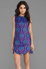 Anna Sui Pop Baroque Jacquard Dress in Purple - Lyst